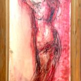 0101011257 - Aphrodite in rood - Oilpaint on canvas - 030x060 - €900