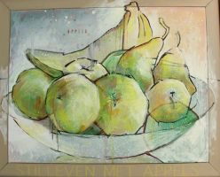 Silleven met appels - Paintings - Oil on Canvas - 090x110 - € 2250