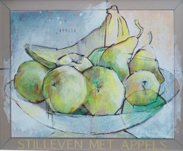 033-0101033229N - Stilleven met appels (Still Life with appels) - 2005, Oil on canvas - 90 x 110 cm