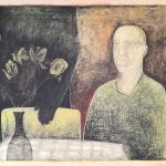 033-0101033242N - Aan Tafel (At Table) -  1990 - Oil on canvas -  80 x 145 cm
