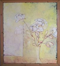 033-010103332N - Stilleven 3 (Still Life 3) - 1991 - Oil/iron wire on canvas - 130 x 110 cm