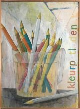 033-010103364N - Kleurpotloden (Coloured pencils) - 1995 - Oil/paper on canvas - 145 x 100 cm