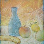 033-010103388N - Stilleven met citroen (Still Life with lemon) - 1997 - Oil on canvas - 80 x 70 cm