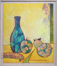 033-010103390N - Stilleven met banaan (Still Life with banana) - 1997 - Oil/collage on canvas - 130 x 110 cm