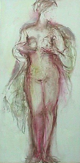 0101011242 - Aphrodite / Vrouwe Justitia - Paintings - Oilpaint on canvas - 120x070 - €1.750