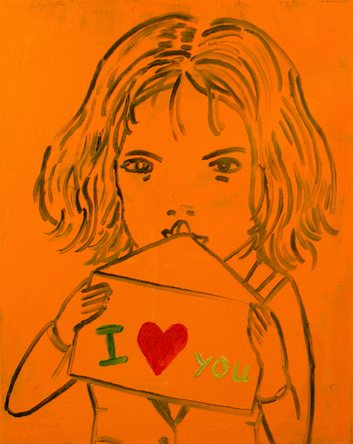 010113034 - I love you - Paintings - Oilpaint on canvas - 050x040 - €425