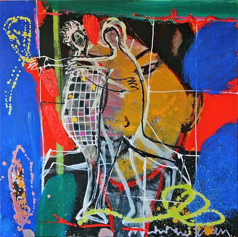 Dancing Figures 2011 - Paintings - Acrylics on canvas - 080x080 - €2.600-0102148579