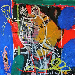 Dancing Figures 2011 - Paintings - Acrylics on canvas - 080x080 - €2.600