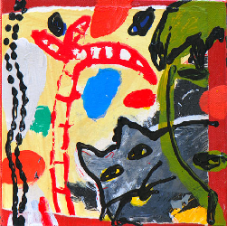 Linchong-2010 - Paintings - Acrylics on canvas - 020x020 - €450