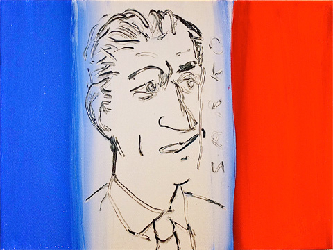 Le President - Paintings - Acrylics on canvas - 040x030 - €550