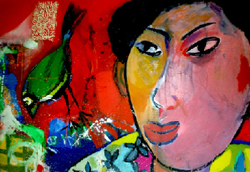 Aloha Kakahiaka 2011 - Paintings - Acrylics on canvas - 120x100 - €4.200