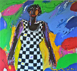 Back from Burkinafasso 2011 - Paintings - Acrylics on canvas - 120x120 - €3.400