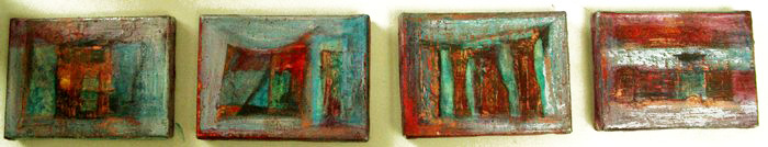 010124066 - Zonder titel vierluik - Paintings - Oilpaint on canvas  - 010x015 - €600