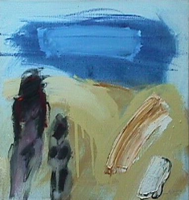 Wandeling aan zee - Paintings - Oilpaint on canvas - 060x070  - €2.800