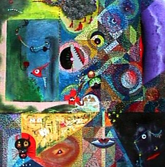 010225701 - My name is Luna - Paintings - Acrylics on canvas - 026x026 - €1.250