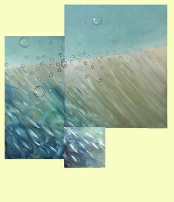 Water Dream Triptiek - Paintings - Oilpaint on canvas - 130x150 - €2.900