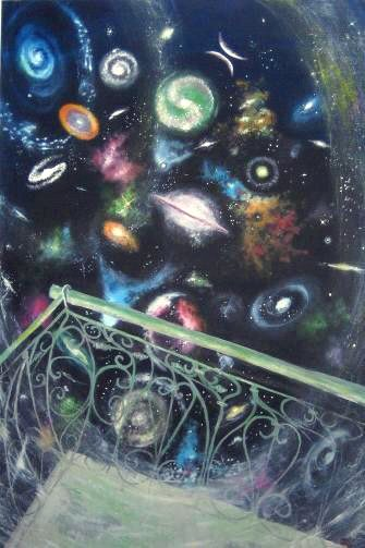 The Universe From The Balcony - Paintings - Oilpaint on canvas - 100x150 - €2.900
