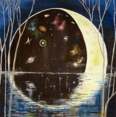 The dark side of the moon - Paintings - Oilpaint on canvas - 100x100 - €2.45