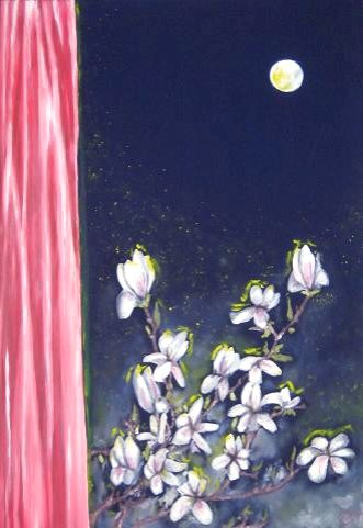 The Magnolias from the moon - Paintings - Oilpaint on canvas - 070x100 - €2.1005